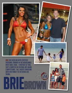 Certified Personal Trainer - competition - Brie Brown